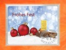 1/10 oz. gold gift bar flip motif: Frohes Fest