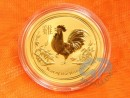1/10 oz. Lunar II Rooster gold coin Australia 2017