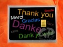 1 g gold gift bar motif: Thank you