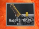 1 Gramm Gold Geschenkbarren Motiv: Happy birthday Champagner