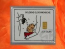 1 g gold gift bar motif: Zur Taufe
