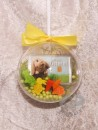 1 g gold gift bar motif: Happy Easter in gift ball / globe handmade decorated