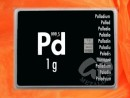 1 Gramm Palladium Geschenkbarren Pd international