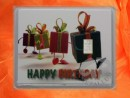 1 g silver gift bar motif Happy birthday presents
