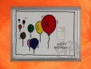 1 g silver gift bar motif Happy birthday ballons