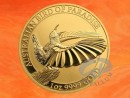 1 oz. Bird Of Paradise Victoria`s Riflebird gold coin...
