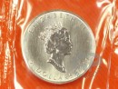 1 oz. Maple Leaf silver coin Canada 1991