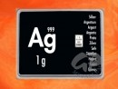 1 g Gramm Silber Silberbarren Ag international