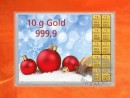 10 g gold gift bar flip motif: Merry Christmas