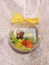 2 g gold gift bar motif: Happy Easter in gift ball / globe handmade decorated