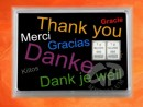 2 g silver gift bar motif: Thank you