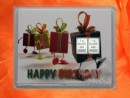 2 g silver gift bar motif Happy birthday presents