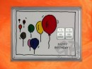 2 g silver gift bar motif Happy birthday ballons