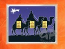 3 g gold gift bar flip motif: Christmas Holy Kings