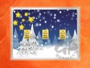 3 g gold gift bar flip motif: Christmas winter wonderland