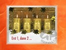4 g gold gift bar flip motif: Christmas candles