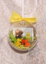 2 g gold gift bar motif: Happy Easter in gift ball /...