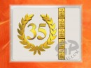 1 g gold gift bar flip motif: Anniversary 35 years