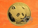 8 g China Panda Goldmünze 2018