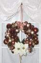 Christmas wreath handmade decorated silver white 50 cm