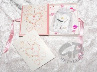 1 g gold gift ba rZur Geburt for girls in decorated gift box stork
