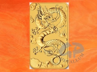 1 Unze Gold Münzbarren Drache Dragon Rectangle Australien 2019