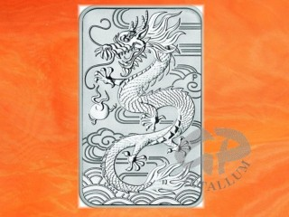 1 oz. coinbar Dragon Rectangle silver Australia 2018