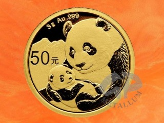 3 g China Panda Goldmünze 2019