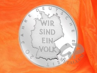 Roll: 25 x 10 EURO 20 years of german unity silver coin Germany, weight: 18 g, purity: 925/1000, fine weight: 16,65 g