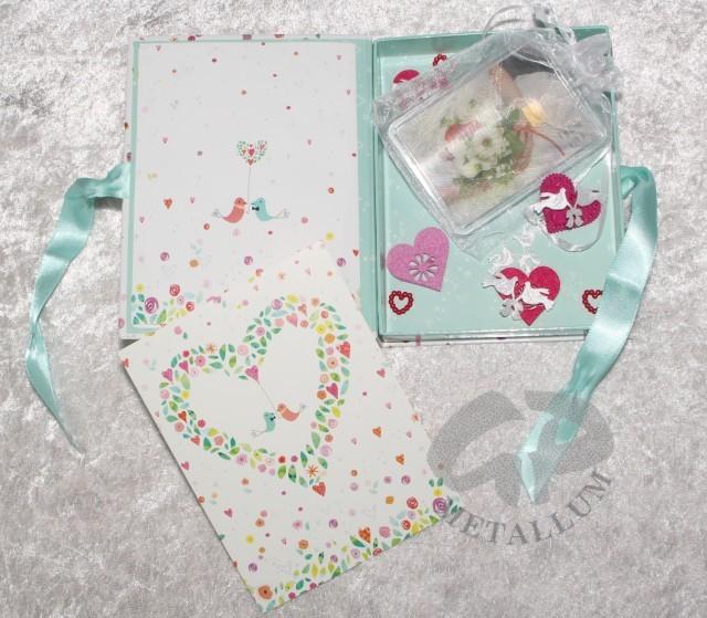 1 g gold gift bar flip motif: wedding cake in decorated gift box, 60,