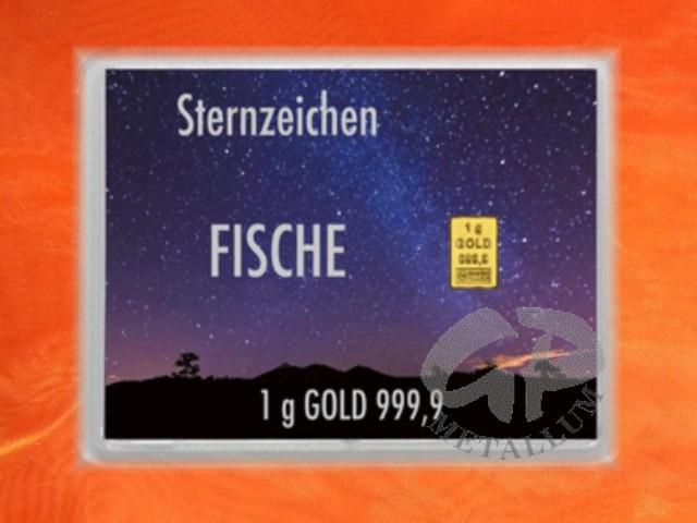 1 gramm gold geschenkbarren flipmotiv sternzeichen fische 44 71 eu. Black Bedroom Furniture Sets. Home Design Ideas