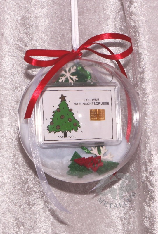 2 gramm gold geschenkbarren goldene weihnachten weihnachtsbaum in dek - Dekorierter weihnachtsbaum ...
