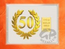 1/10 oz. gold gift bar flip motif: Anniversary 50 years