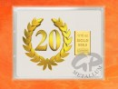 1/10 oz. gold gift bar flip motif: Anniversary 20 years