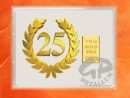 1/10 oz. gold gift bar flip motif: Anniversary 25 years