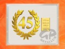 1/10 oz. gold gift bar flip motif: Anniversary 45 years