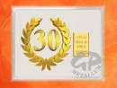 1/10 oz. gold gift bar flip motif: Anniversary 30 years