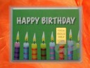 1/10 oz. gold gift bar motif: Happy birthday candles