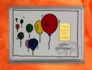 1/10 oz. gold gift bar motif: Happy birthday ballons
