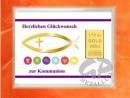 1/10 oz. gold gift bar motif: Kommunion fisch