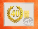 1/10 oz. gold gift bar flip motif: Anniversary 40 years
