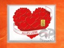 1 g gold gift bar flip motif: Lots of love