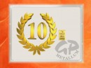 1 g gold gift bar flip motif: Anniversary 10 years