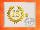 1 g gold gift bar flip motif: Anniversary 15 years