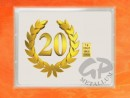 1 g gold gift bar flip motif: Anniversary 20 years