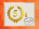 1 g gold gift bar flip motif: Anniversary 5 years