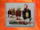 1 g gold gift bar motif: Happy birthday gift