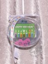 1 g gold gift bar motif: Happy Birthday candles in gift...