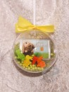 1 g gold gift bar motif: Happy Easter in gift ball /...