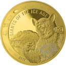 1 oz. Giants Of The Ice Age - Cave bear - gold coin Ghana...
